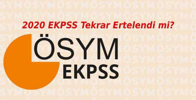 Photo of EKPSS Sınavı Tekrar Ertelendi!