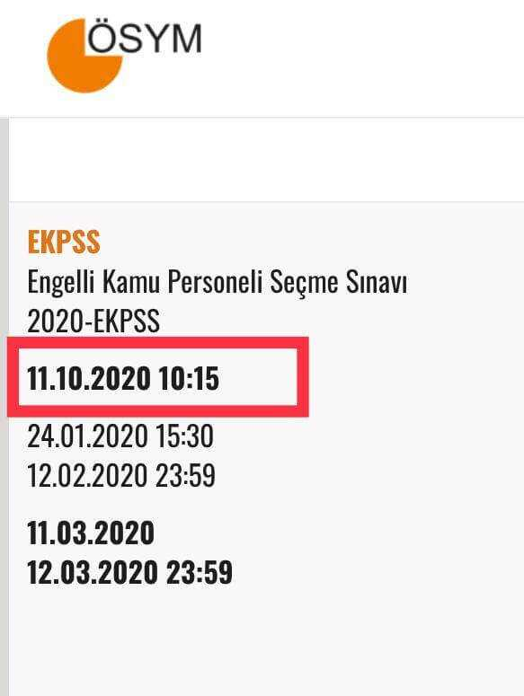 EKPSS Sınavı 11 Ekim 2020 Tarihine Ertelendi!