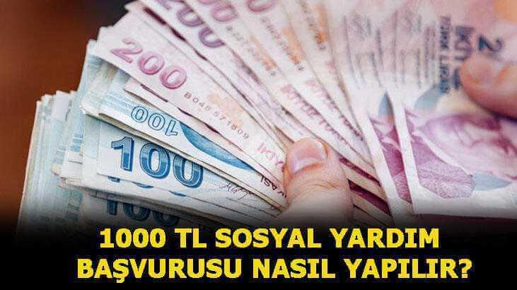 sosyal yardım 1000 tl