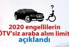 Photo of 2020 engelliler için ÖTV'siz araba alım limiti açıklandı
