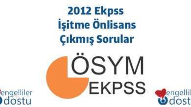 Photo of 2012 Ekpss İşitme Önlisans Çıkmış Sorular