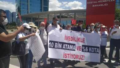 Photo of Engelliler Bakanlık Önünde Basın Açıklaması Yaptı