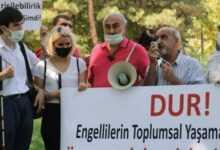 Photo of Engelli Temsilcileri Meclis Önünde Eylem Yaptı!